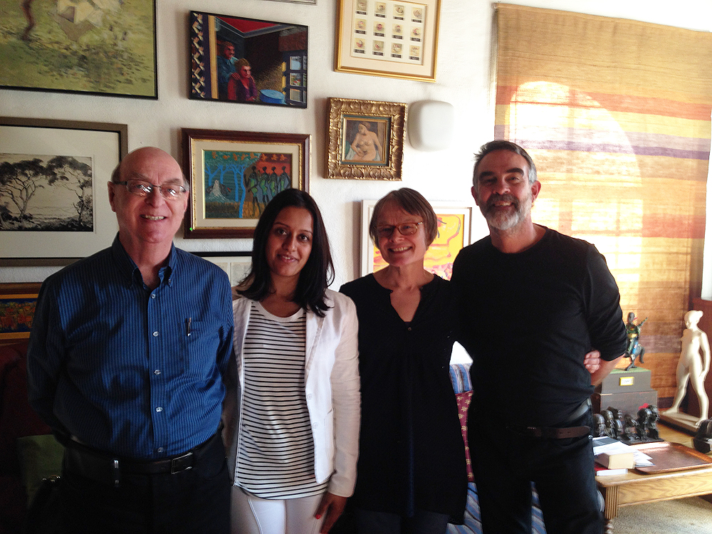 Jack Ginsberg, Faheema Mayet, Elizabeth James and David Paton