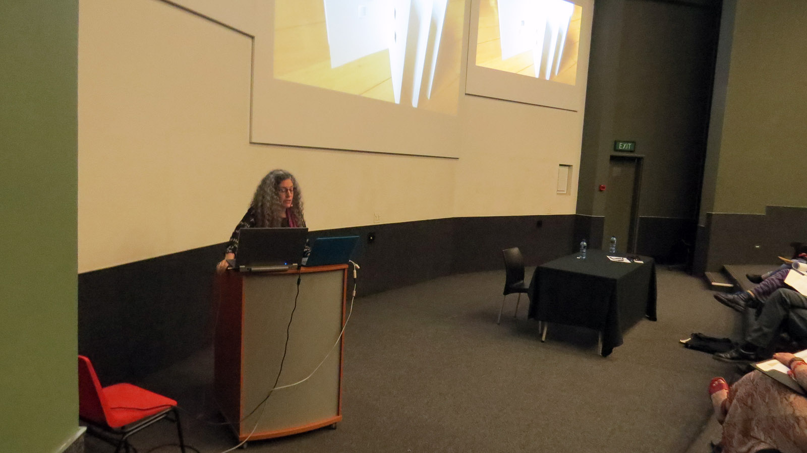 Click the image for a view of: Robbin Ami Silverberg Keynote address. The Aegean Sea: The Compulsion to Make Artist Books. Saturday 25 March