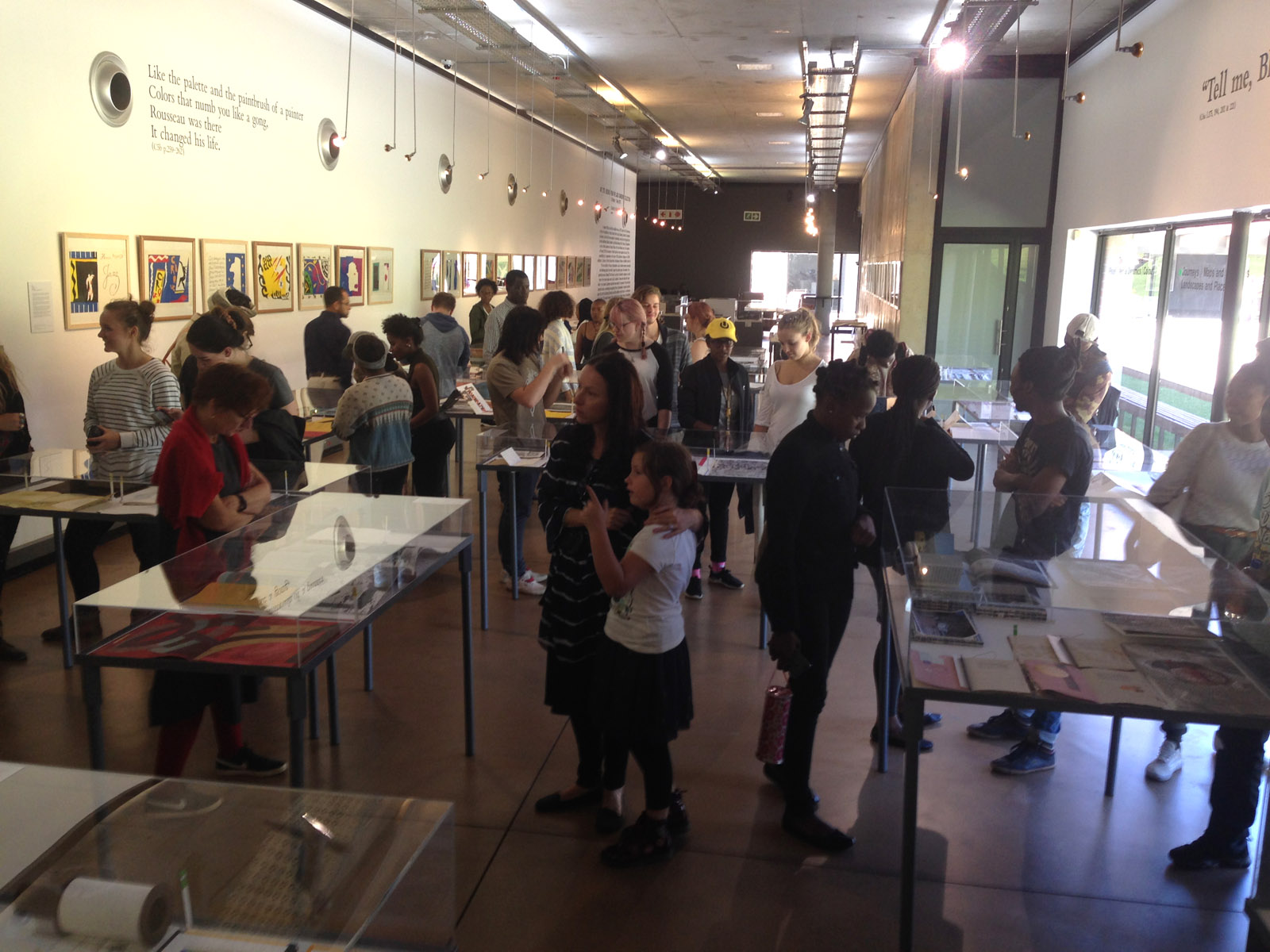 Click the image for a view of: Walkabout with Department of Visual Art students, UJ Gallery-  Wednesday 19 April