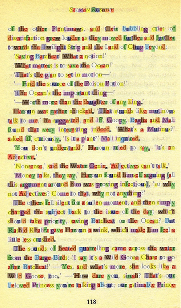 Click the image for a view of: Page 118 overlay, demonstrating the colour/letter relationship